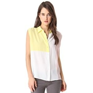 Equipment Diem Clean Blouse with Insets  silk NEW